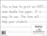 Wide Notebook Paper, 100 Sheets--Grades K to 1