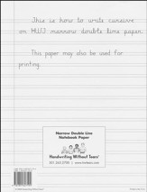 Narrow Notebook Paper (500 Sheets; Grades 4+)
