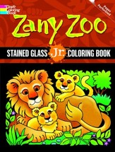 Zany Zoo: Stained Glass Jr. Coloring Book
