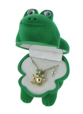 Frog Necklace with Cross Charm
