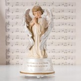 Jesus Loves Me Musical Angel Figurine