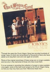 Memories Made New, Volume 1, DVD