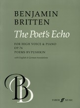 The Poets Echo: For High Voice and Piano