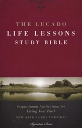 NKJV Lucado Life Lessons Bible, soft leather-look black