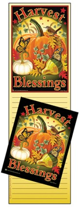 Harvest Blessings Memo Magnet Set