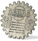 Grow Exalt Ask Receive Serve Tabletop Plaque