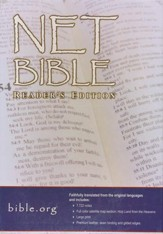 NET Bible Reader's Edition , Premium Bonded Leather   Black