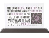 The Lord Bless and Keep You Glass Plaque