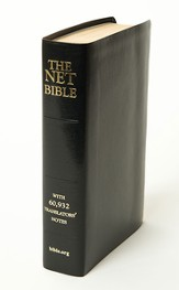 NET Bible, Premium Bonded Leather, Black Full Notes Edition