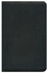 NAS Updated Ultrathin Bible, Genuine Leather in black  - Imperfectly Imprinted Bibles