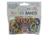 Loom Rubber Bands, 100 Pieces, Rainbow
