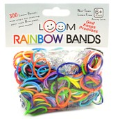 Loom Rubber Bands, 300 Pieces, Rainbow