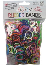 Loom Rubber Bands, 600 Pieces, Multicolor