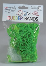 Loom Rubber Bands, 600 Pieces, Green