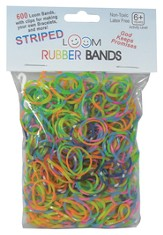 Striped Loom Bands, 600 Pieces