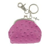 Coin Purse, with Cross Charm, Purple