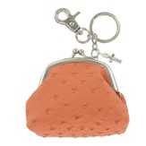 Coin Purse, with Cross Charm, Orange