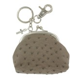 Coin Purse, with Cross Charm, Brown