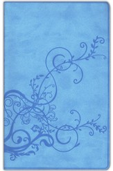 ESV Thinline Bible, TruTone, SkyBlue, Ivy Design - Imperfectly Imprinted Bibles