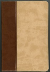 ESV Literary Study Bible--soft leather-look, brown/parchment