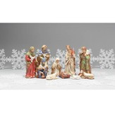 Fabric Nativity Set, 7 pieces, 10 Inches