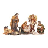 Nativity Set with Detachable Baby Jesus, 7 pieces,