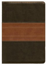 ESV Study Bible, TruTone, Forest/Tan Trail Design
