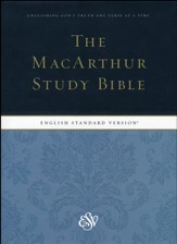 ESV MacArthur Study Bible, Hardcover - Slightly Imperfect