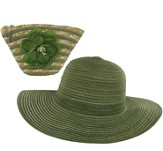 Sun Hat in Straw Bag, Green