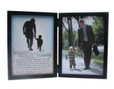 Walking with Daddy Double Tabletop Frame with Scripture