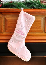 Little Princess Christmas Stocking, Pink