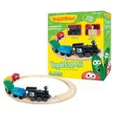 VeggieExpress Wooden Train Set