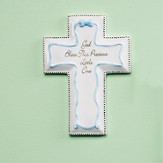 God Bless This Precious Little One Wall Cross, Blue