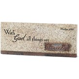 With God All Things Are Possible Tabletop Plaque