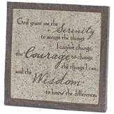 Serenity Prayer Tabletop Plaque