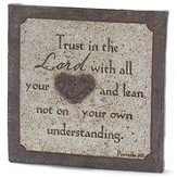 Trust In the Lord Tabletop Plaque