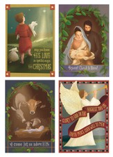 Folk Nativity Assorted Cards, Box of 24