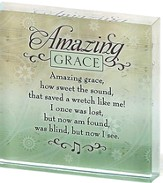 Amazing Grace Glass Block