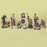 Nativity Set Metallic Accents 11 Pieces