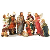 Nativity Set with Detachable Baby Jesus, 8 pieces, 8 Inches