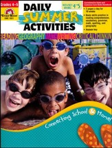 Daily Summer Activities, Moving from Fourth to Fifth  Grade