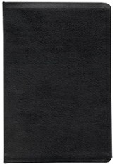 ESV Large Print Bible, Genuine Leather, Black, Black Letter