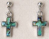Simple Cross Pierced Earrings