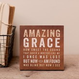 Amazing Grace, Desktop Plaque, Small