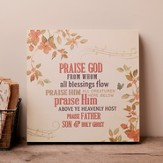 Praise God From Whom All Blessings Flow, Hanging Plaque