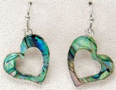 Graceful Heart Pierced Earrings