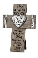 You Are Loved Tabletop Cross
