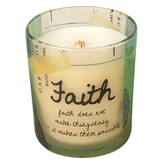 Faith Does Not Make Things Easy Candle