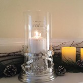 Nativity Hurricane Lamp (pillar candle)