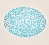 Merry Christmas, Snowflake Plaque